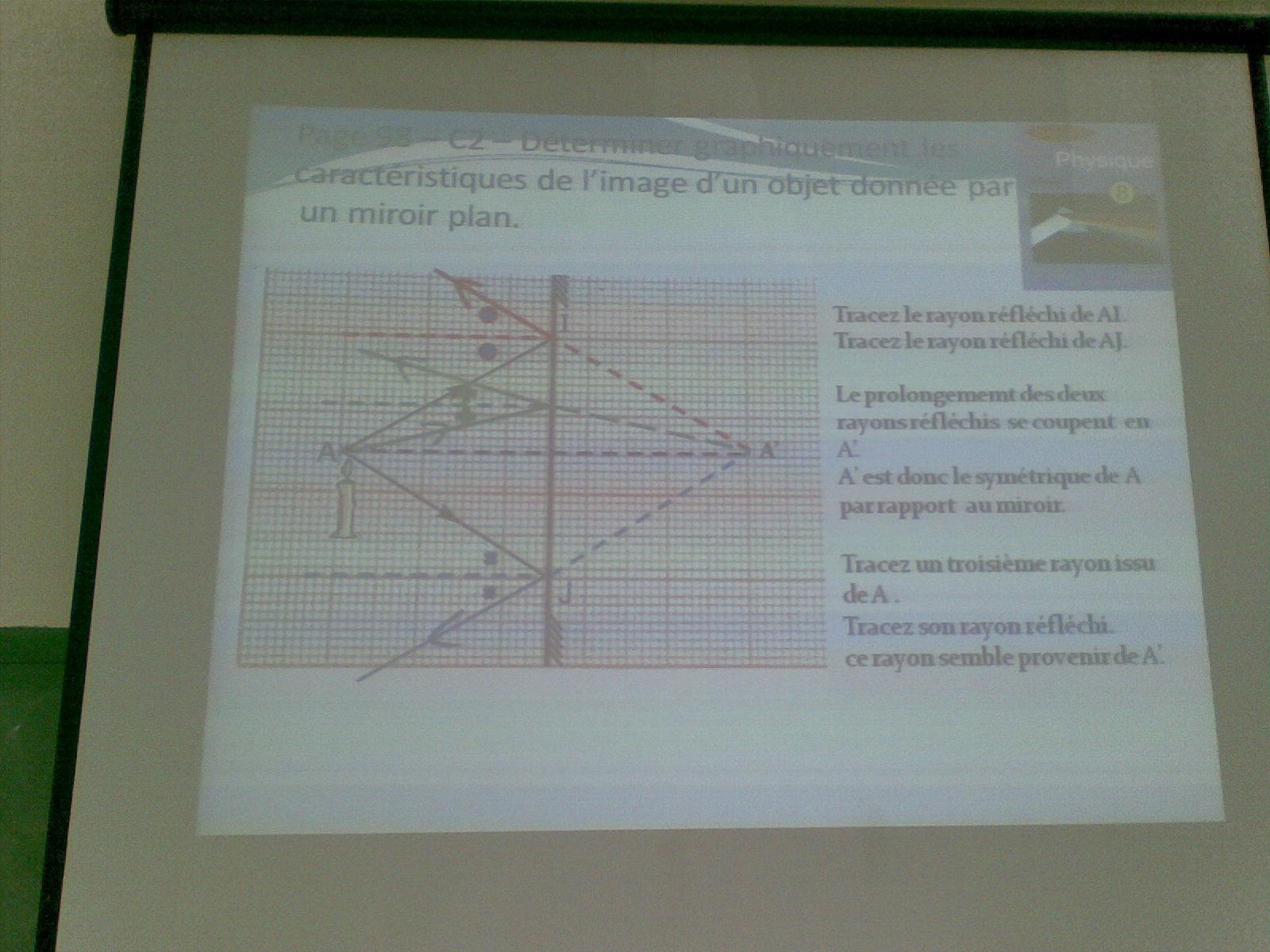 Lecon de physique en integrant les TICE